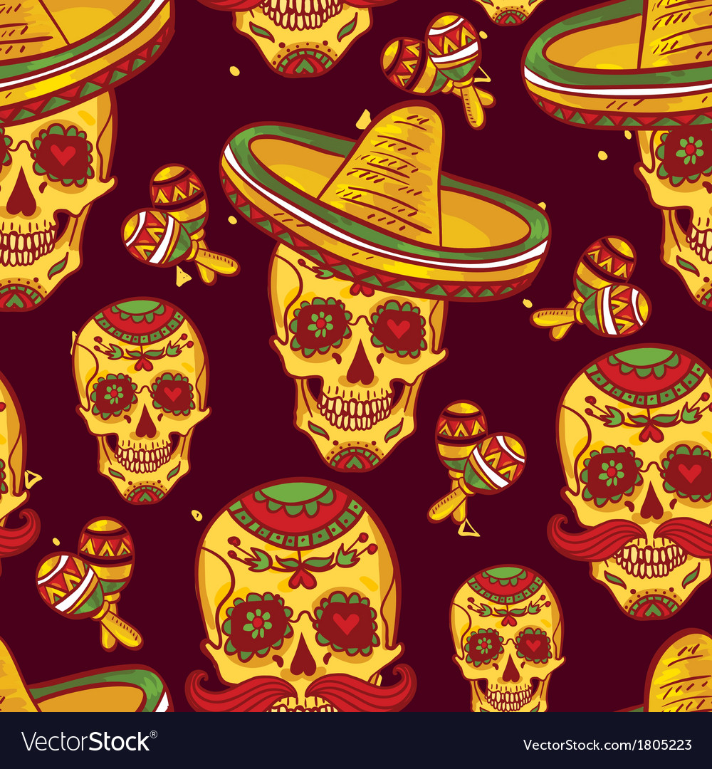 Cinco de mayo seamless pattern vector | Price: 1 Credit (USD $1)