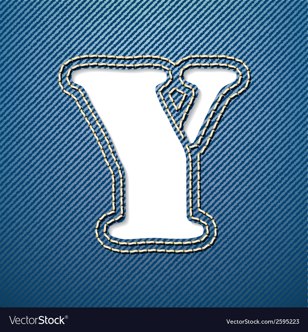 Denim jeans letter y vector | Price: 1 Credit (USD $1)