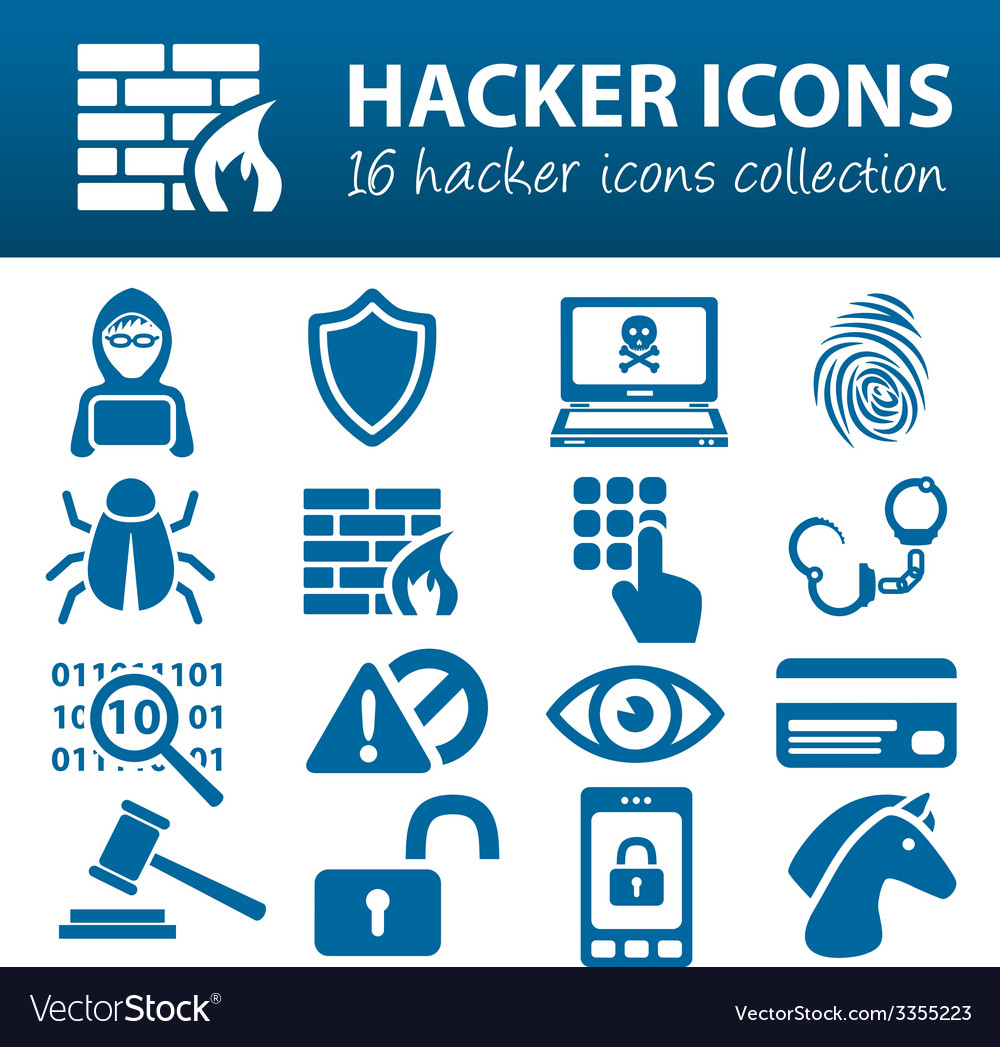 Hacker icons vector | Price: 1 Credit (USD $1)
