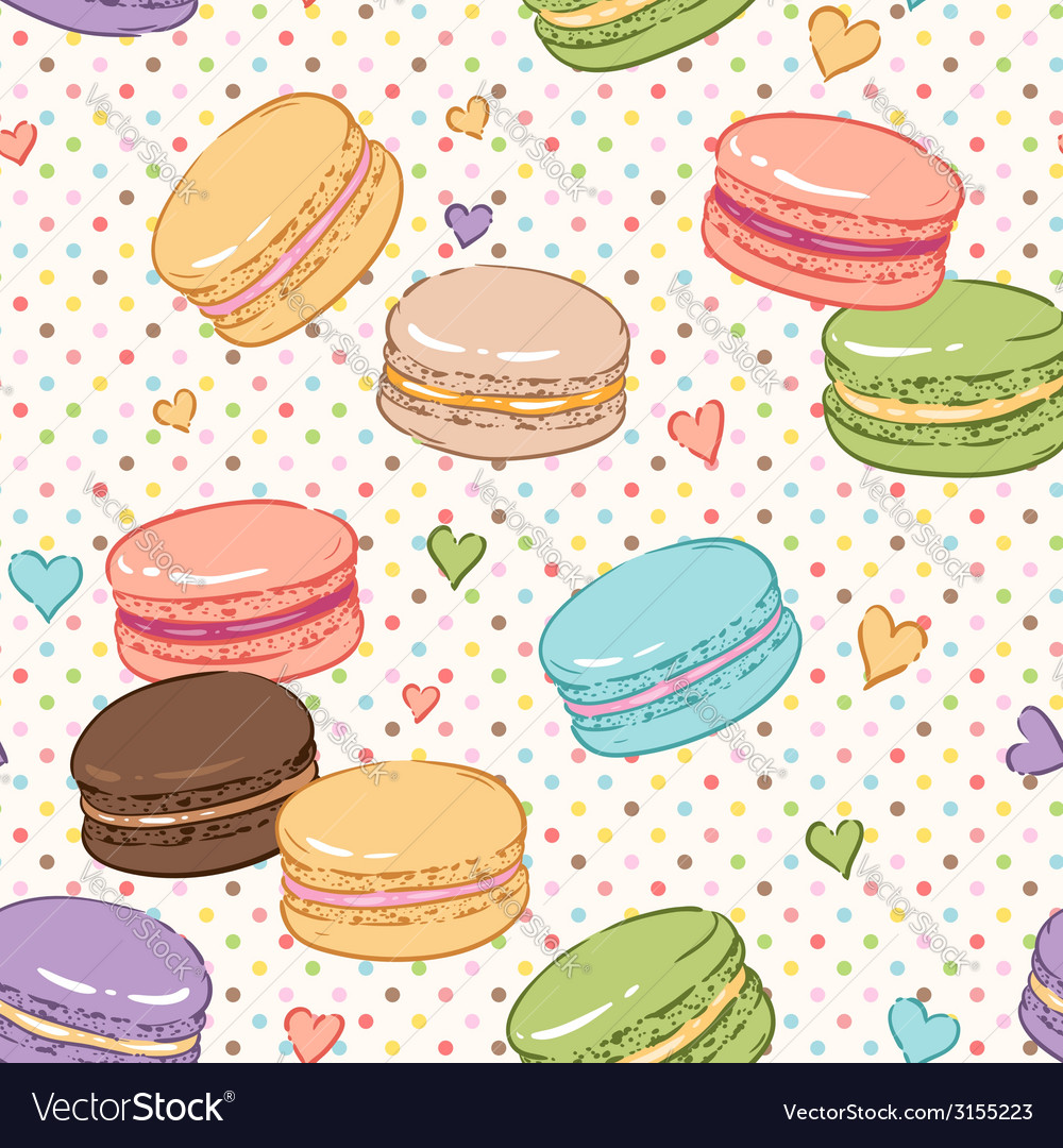 Macarons pattern vector | Price: 1 Credit (USD $1)