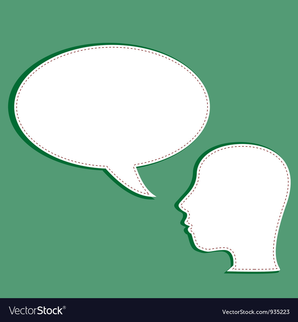 Man with a empty speech bubble over his head vector | Price: 1 Credit (USD $1)