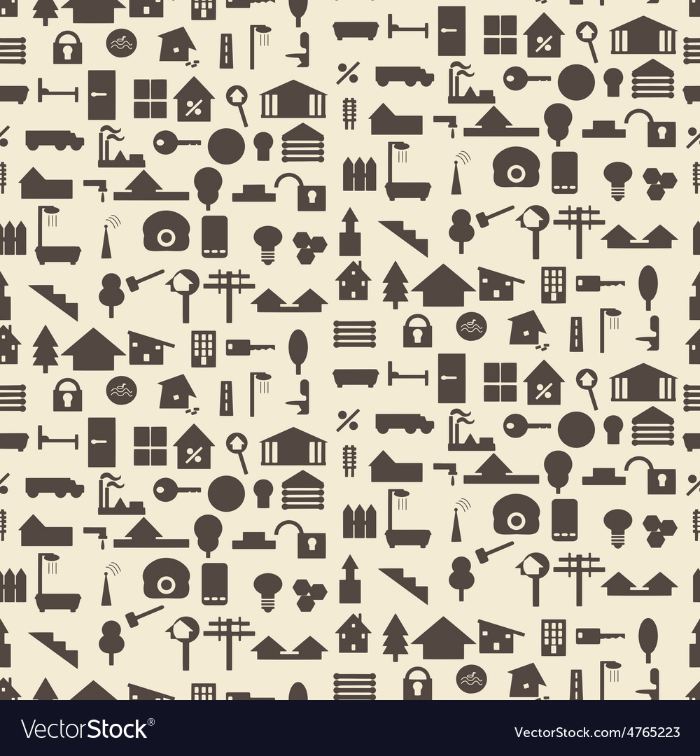 Real estate and construction icon silhouette set vector | Price: 1 Credit (USD $1)