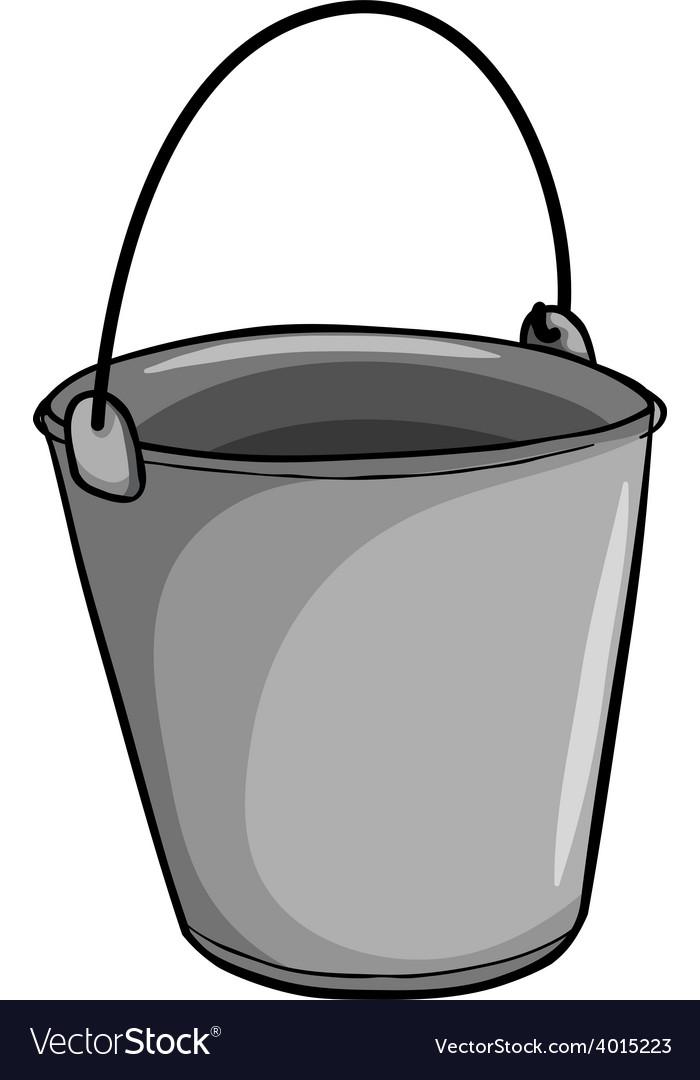 Small grey bucket vector | Price: 1 Credit (USD $1)