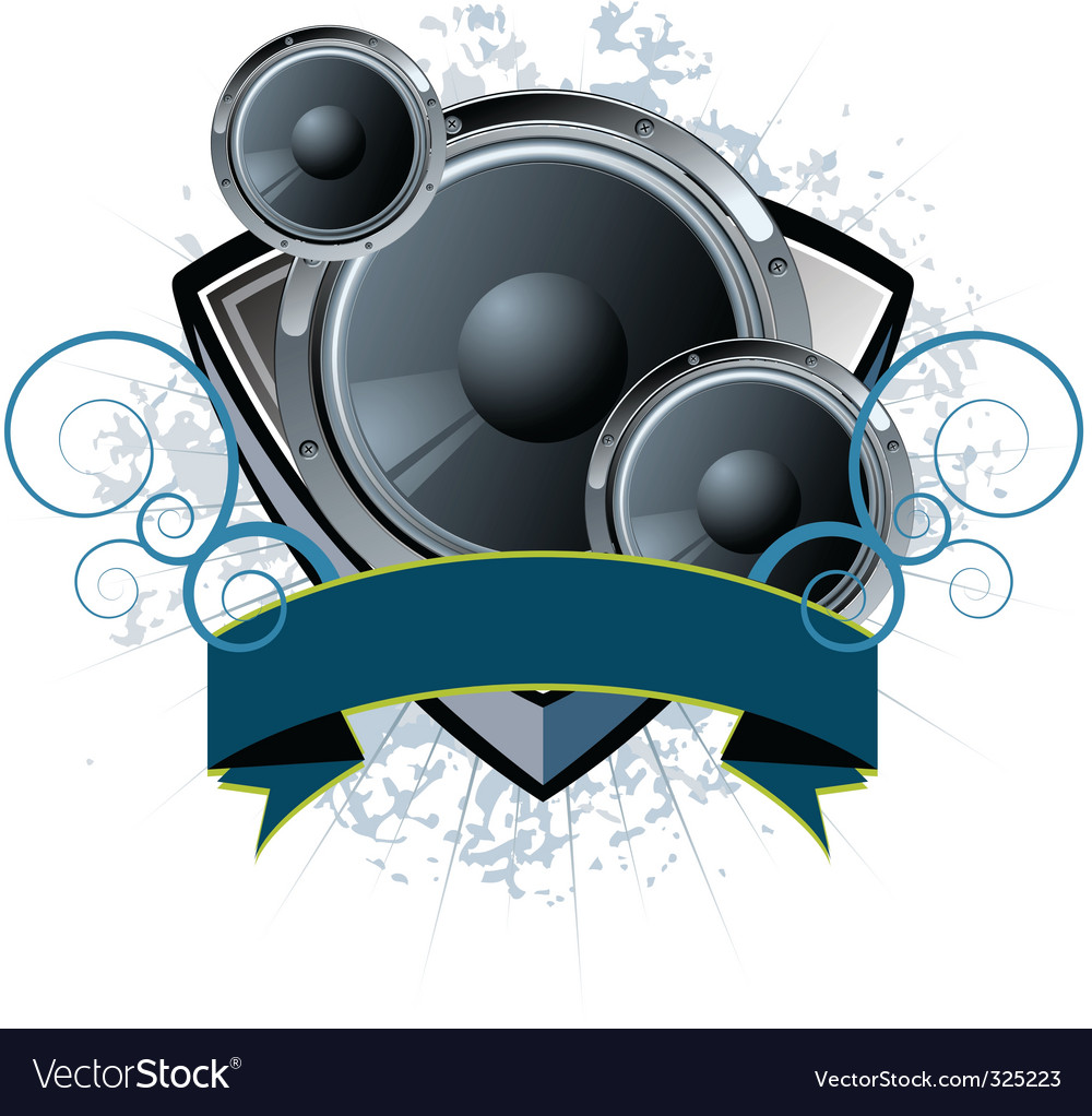 Speaker shield vector | Price: 3 Credit (USD $3)