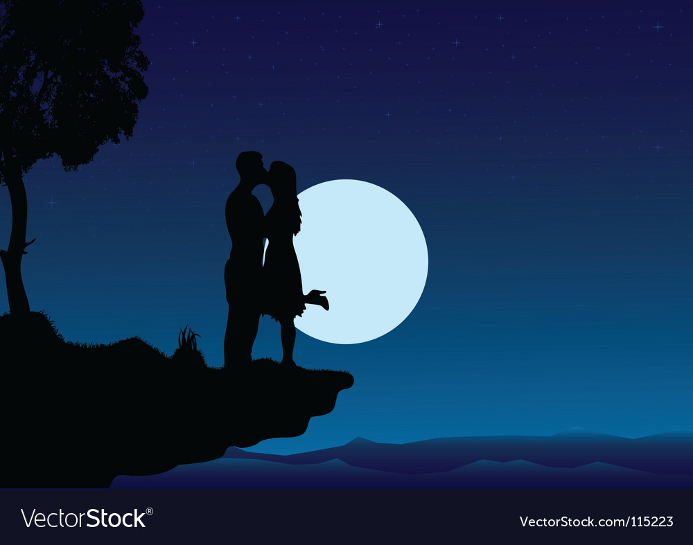 Sunset kissing into the night vector | Price: 1 Credit (USD $1)