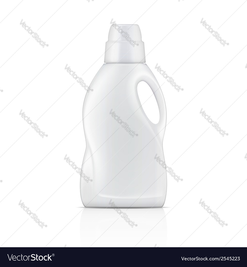 White bottle for liquid laundry detergent vector | Price: 1 Credit (USD $1)