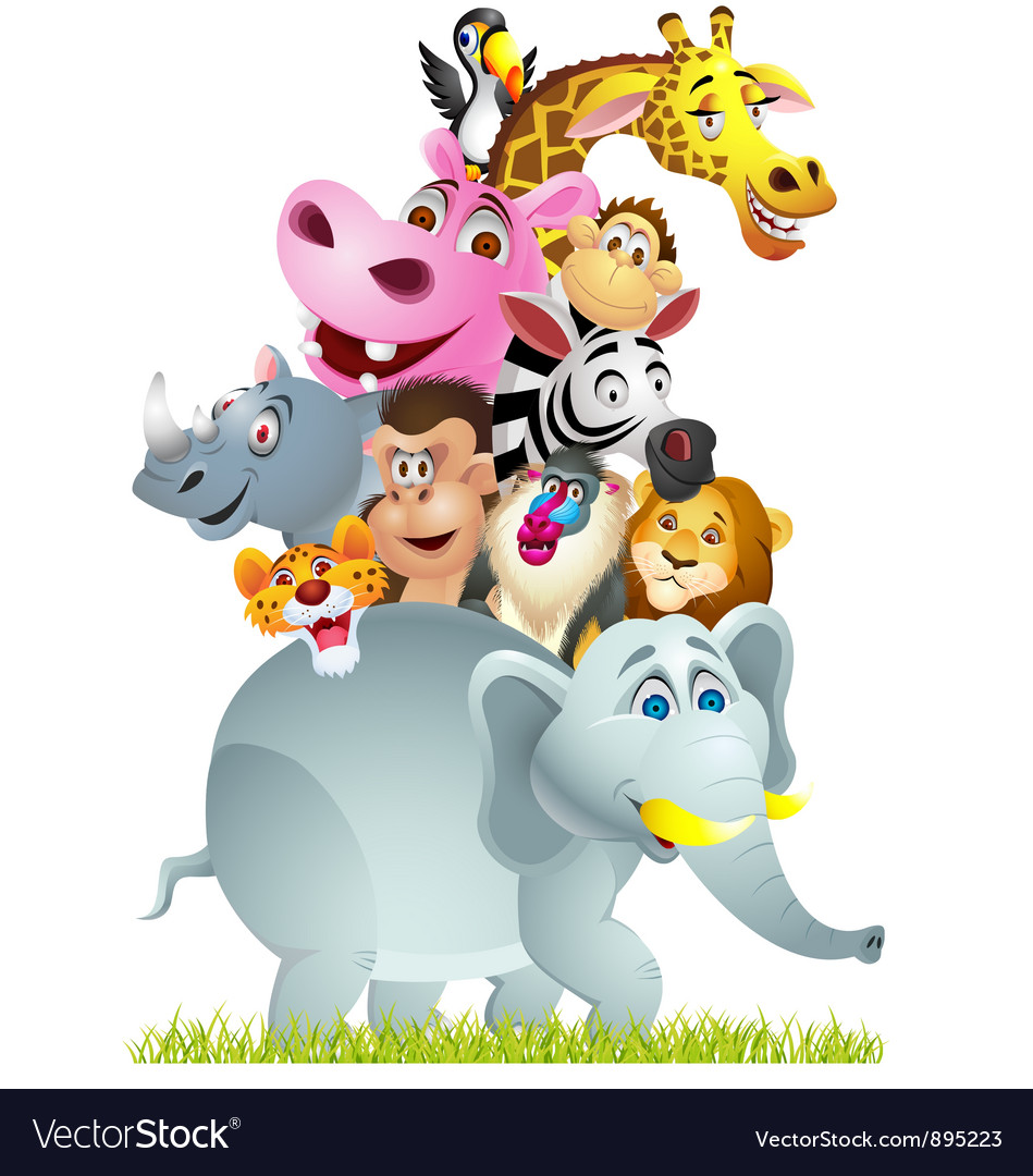 Wild animal cartoon vector | Price: 3 Credit (USD $3)