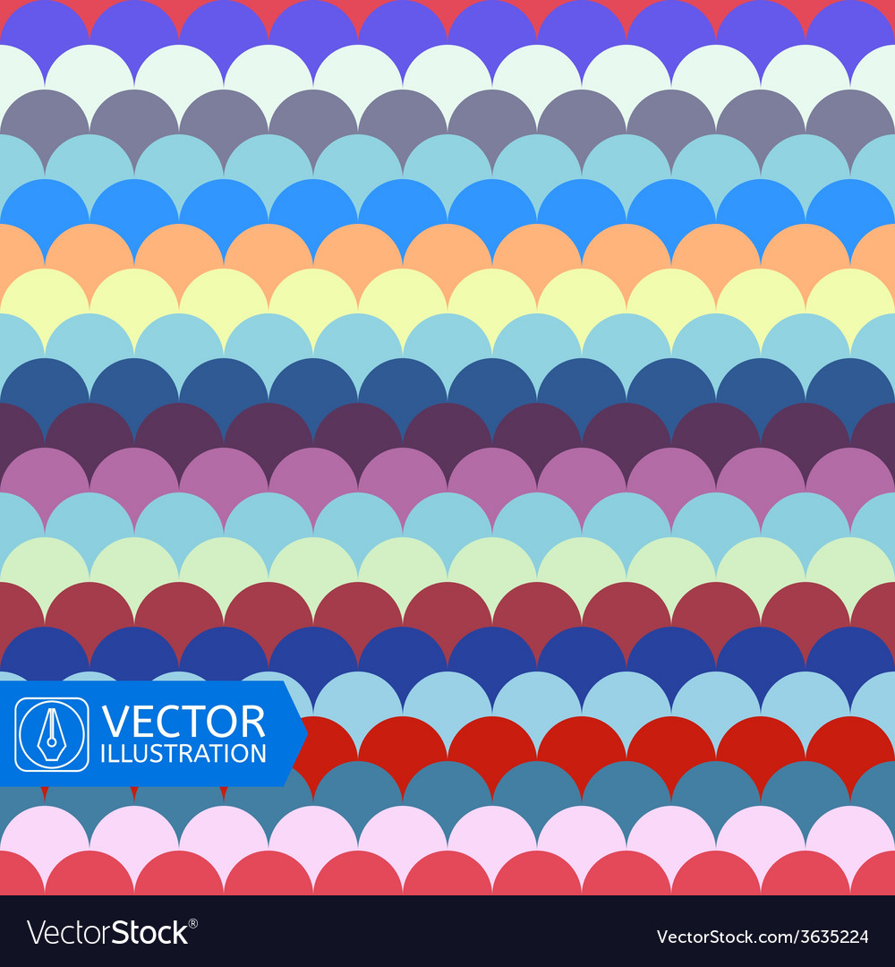 Abstract colorful wave seamless pattern vector | Price: 1 Credit (USD $1)