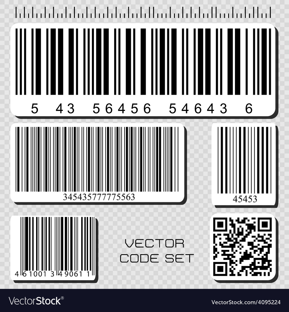 Barcode set vector | Price: 1 Credit (USD $1)