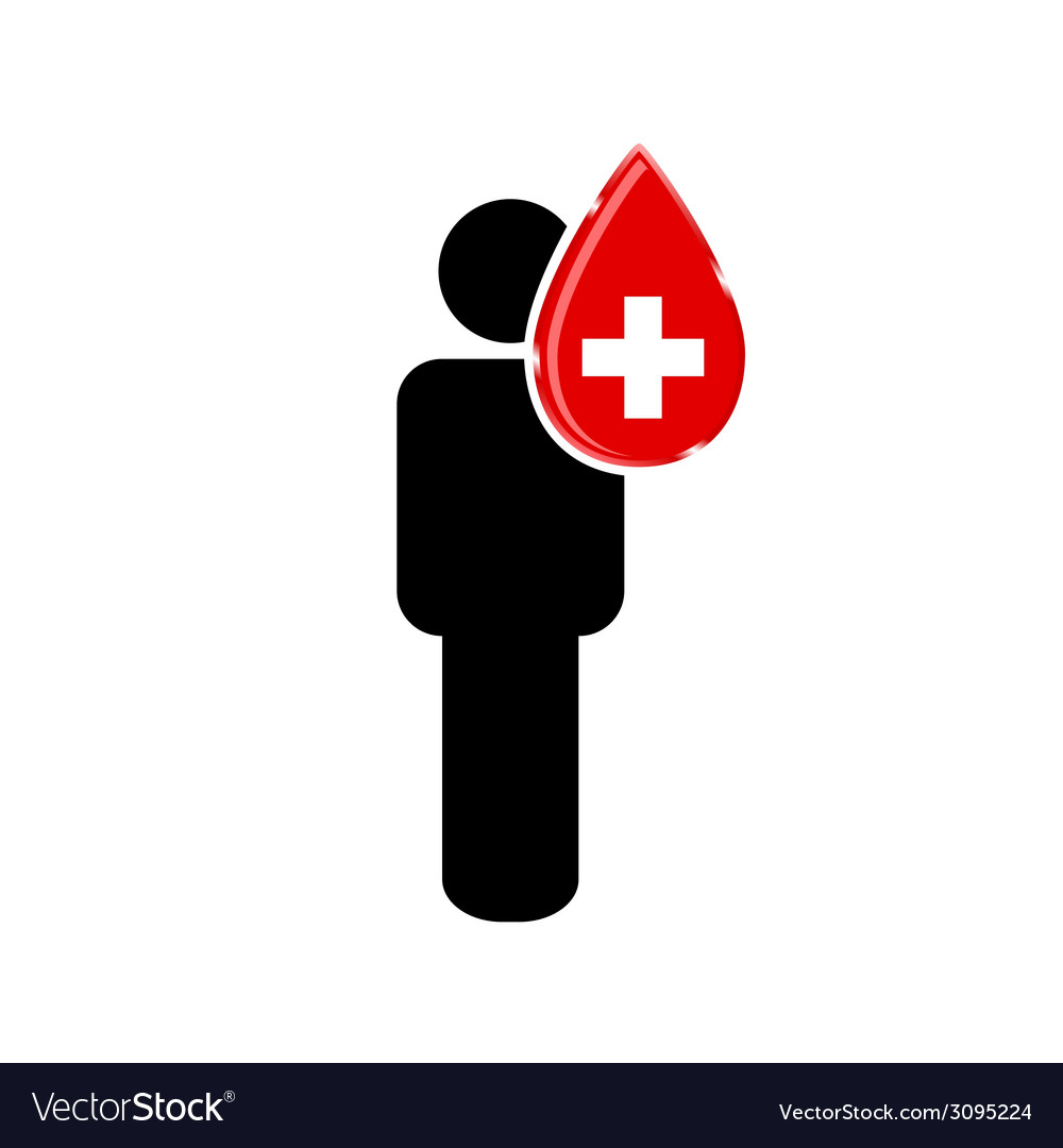 Blood donation with man vector | Price: 1 Credit (USD $1)