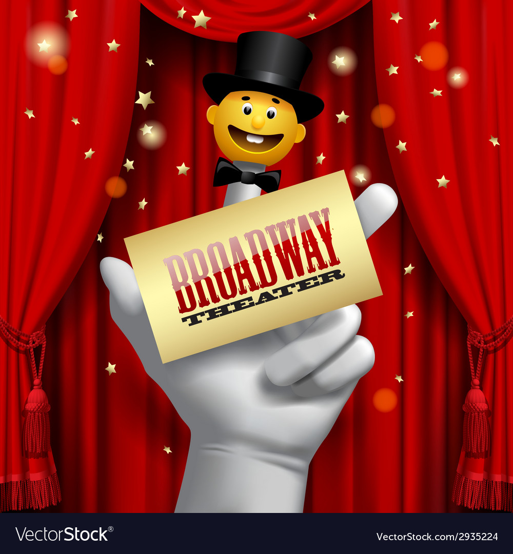 Broadway poster vector | Price: 3 Credit (USD $3)