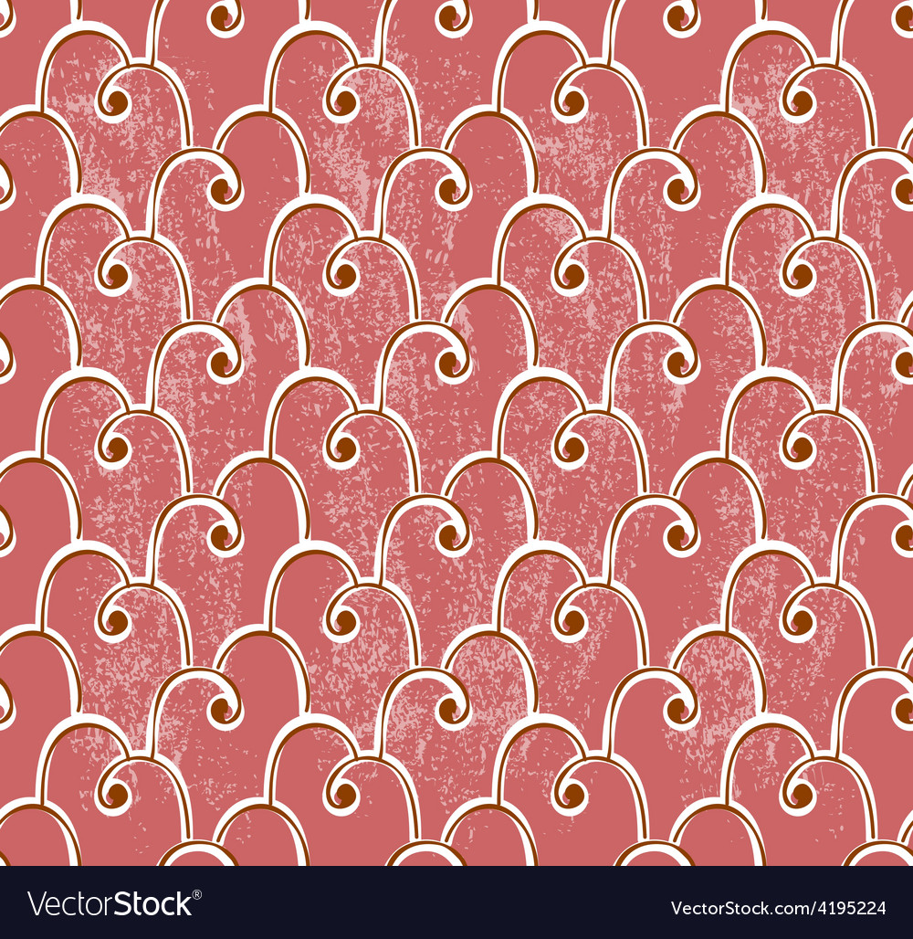 Classical seamless pattern over grungy background vector | Price: 1 Credit (USD $1)