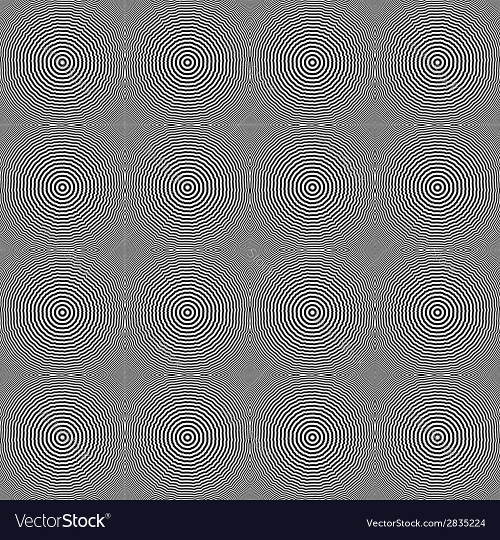 Design seamless monochrome circular pattern vector | Price: 1 Credit (USD $1)