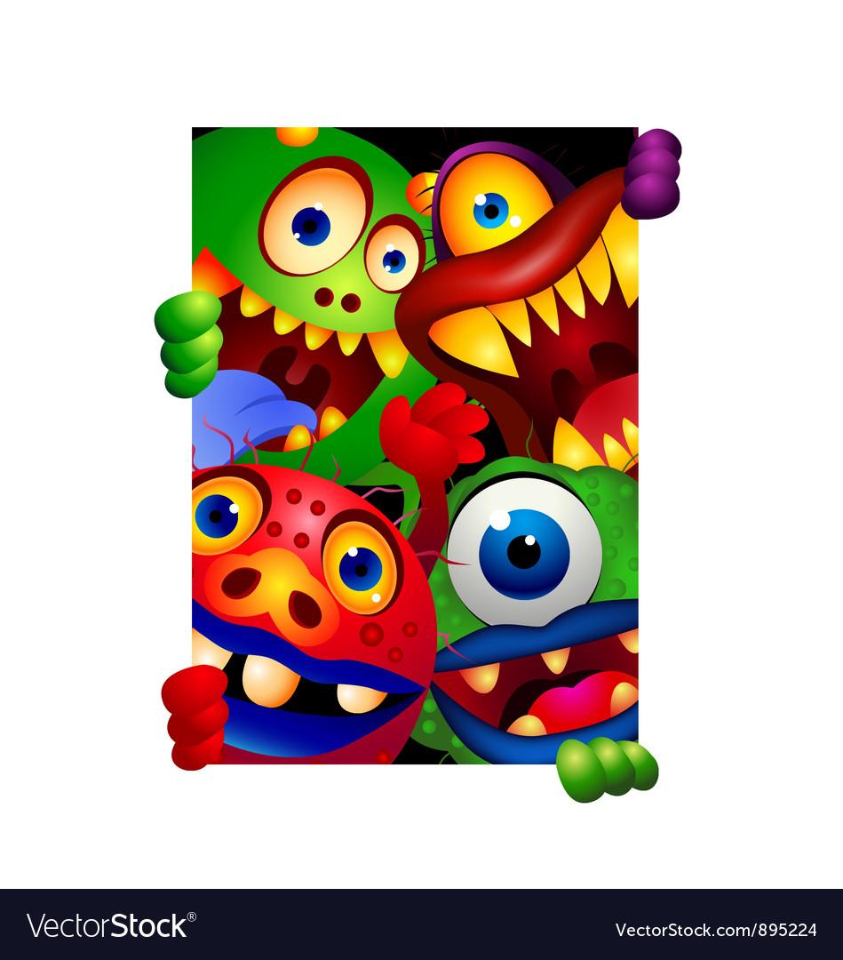Funny monster cartoon vector | Price: 3 Credit (USD $3)
