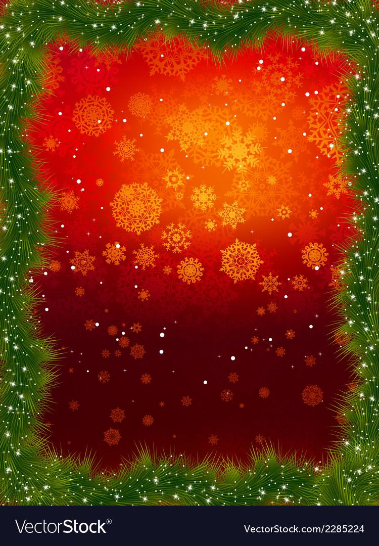 Fur christmas frame eps 8 vector   Price: 1 Credit (USD $1)