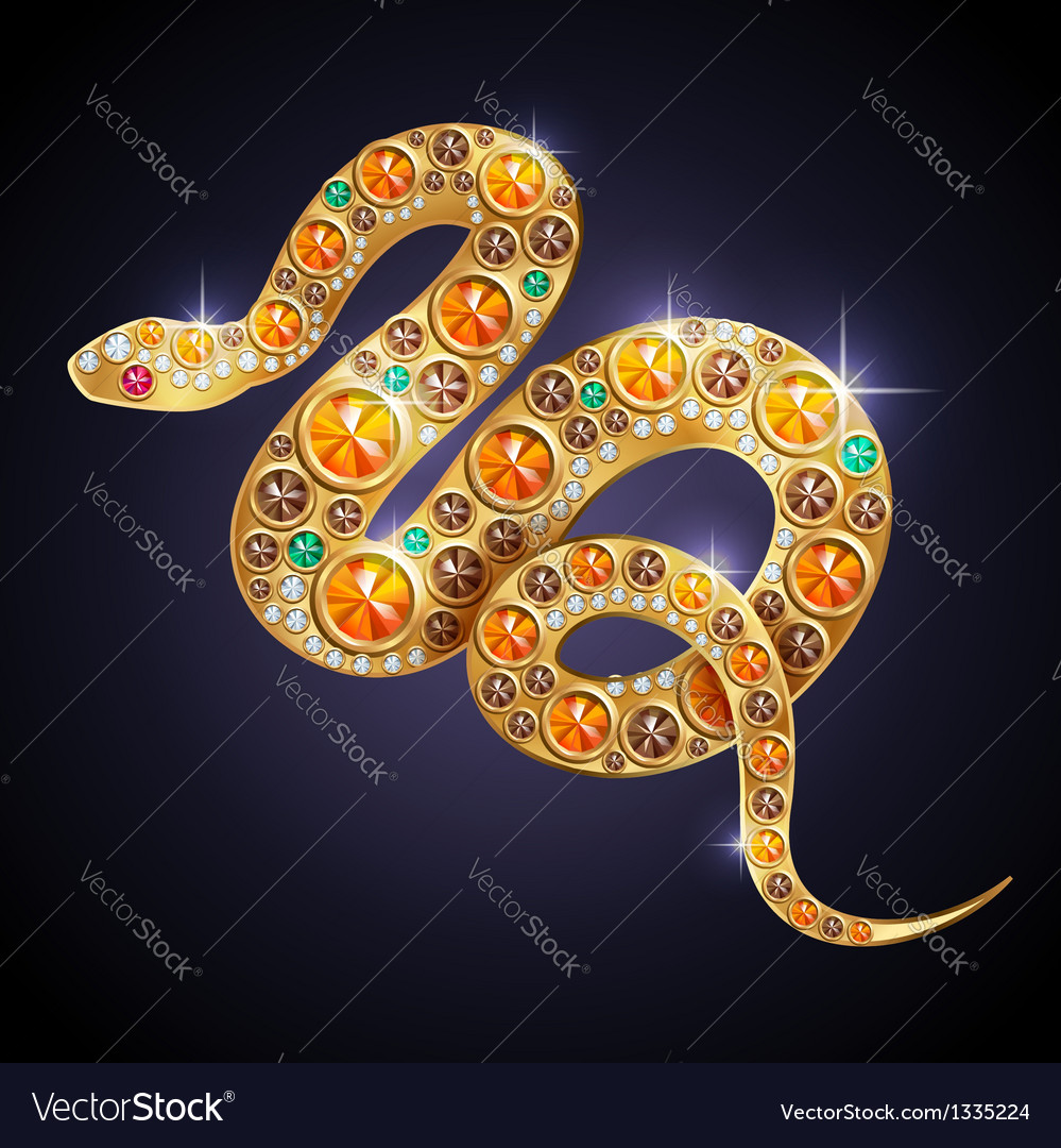 Golden snake vector | Price: 1 Credit (USD $1)