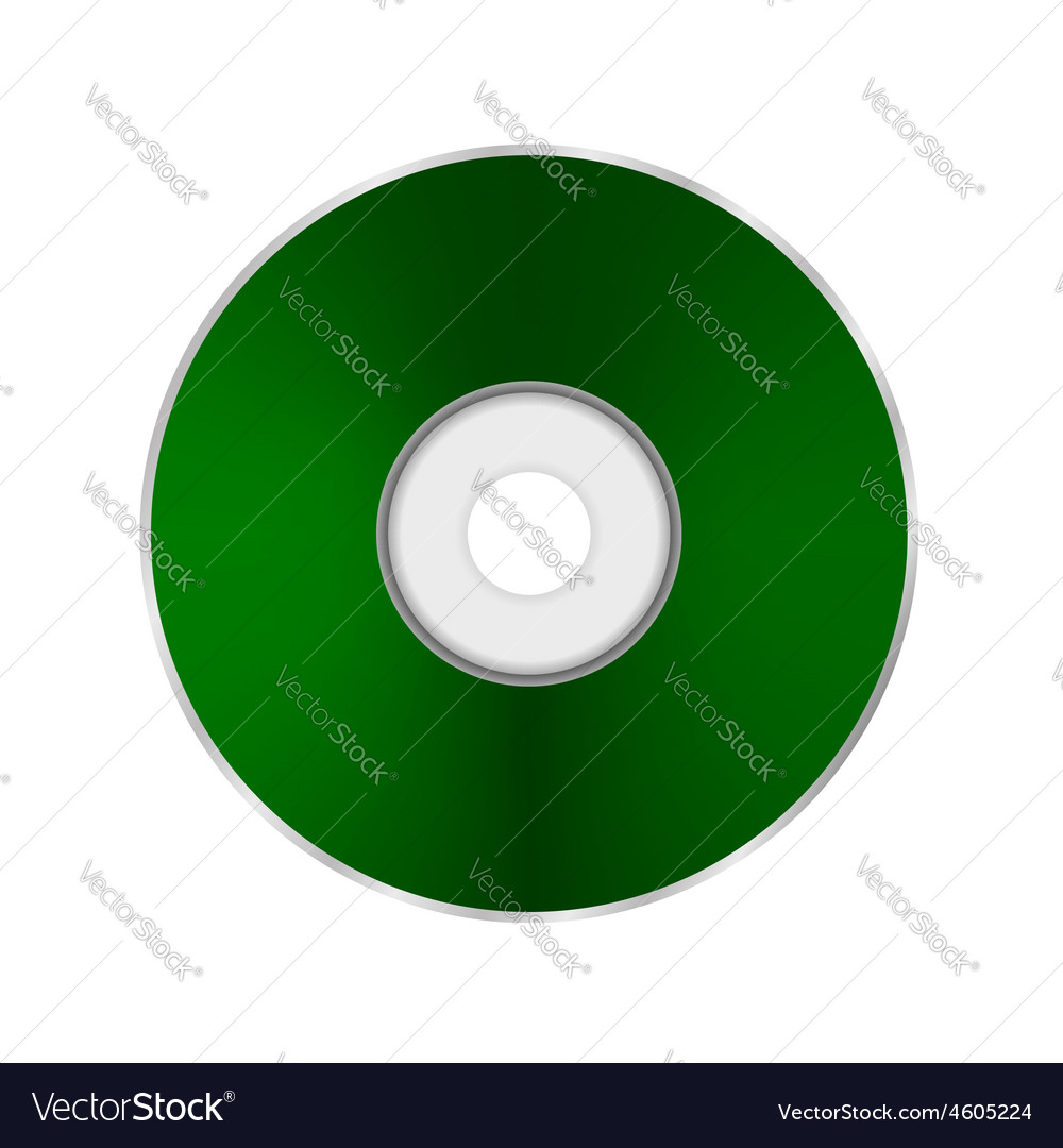 Green compact disc vector   Price: 1 Credit (USD $1)