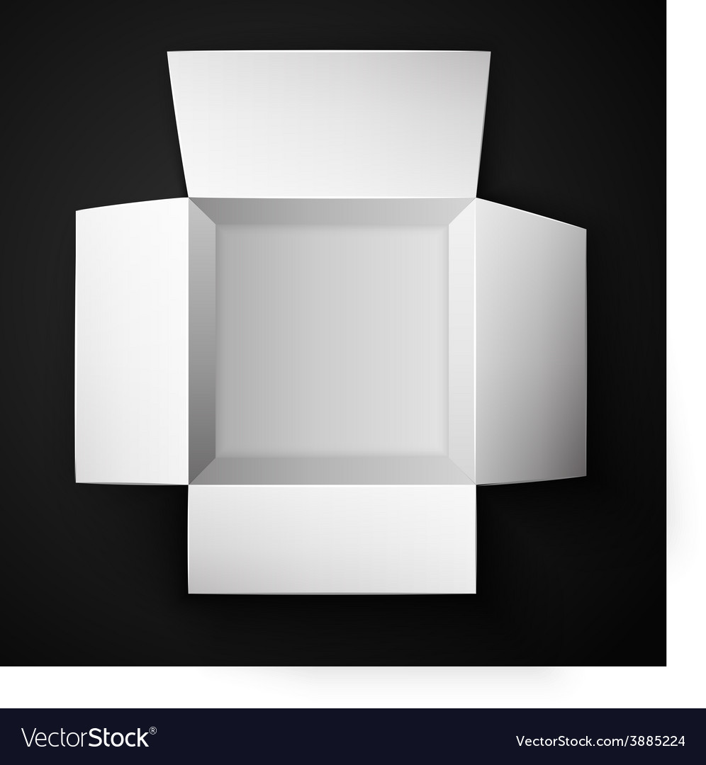 Package box opened top view vector | Price: 1 Credit (USD $1)