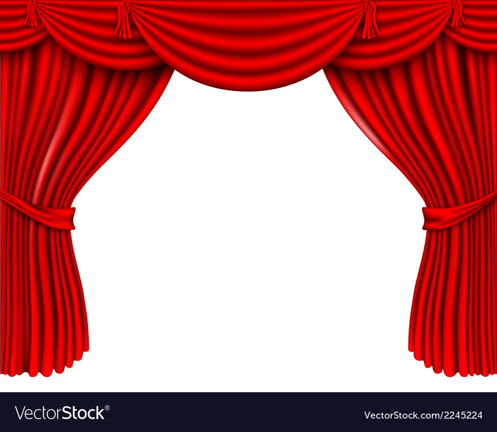 Red silk curtains vector | Price: 1 Credit (USD $1)