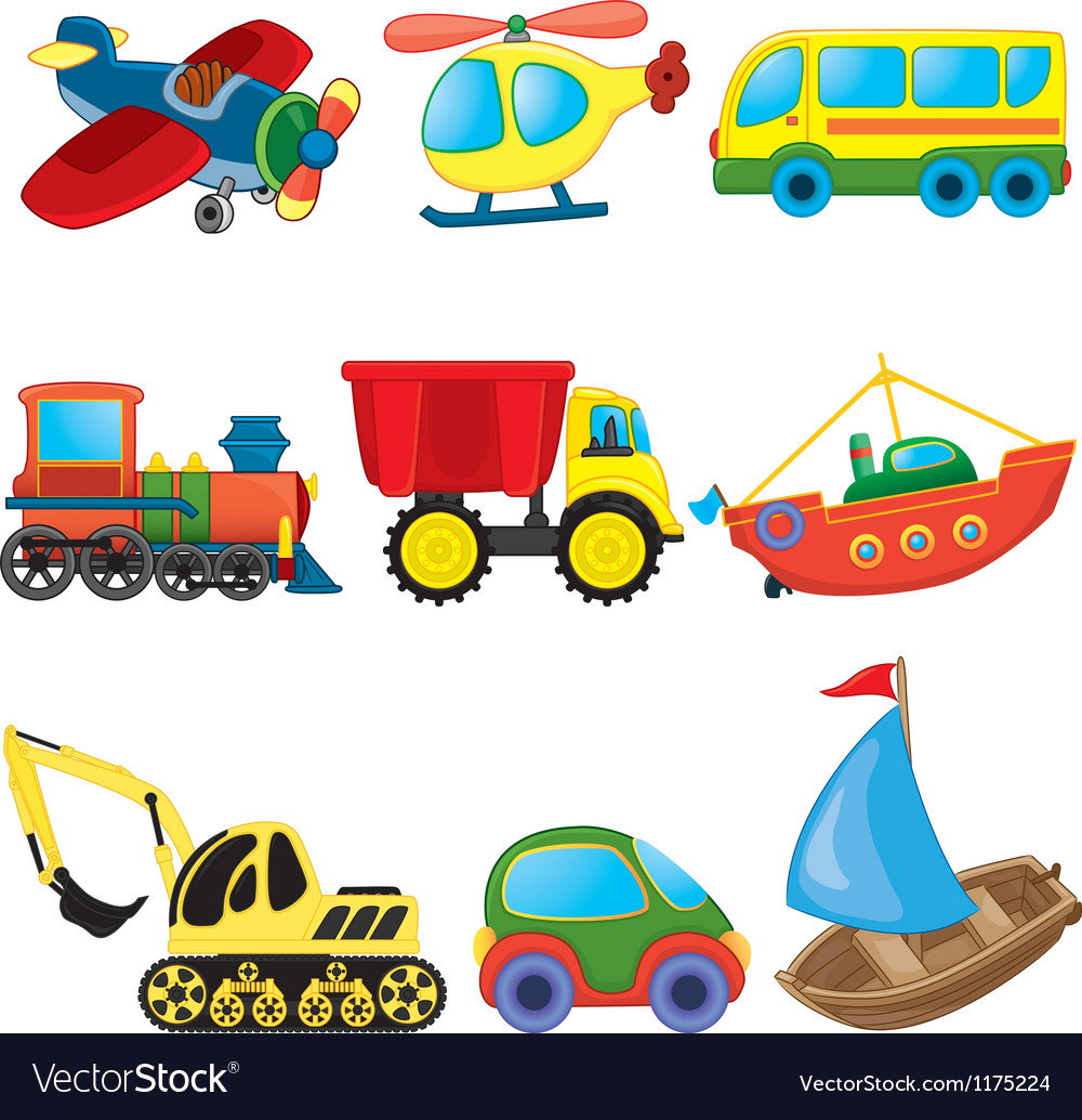 Transport toys vector | Price: 1 Credit (USD $1)