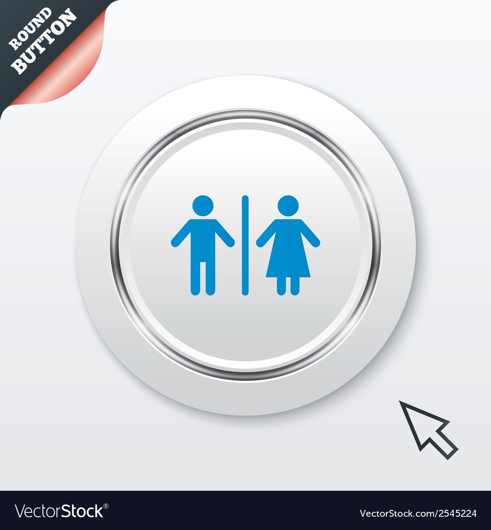 Wc sign icon toilet symbol vector | Price: 1 Credit (USD $1)