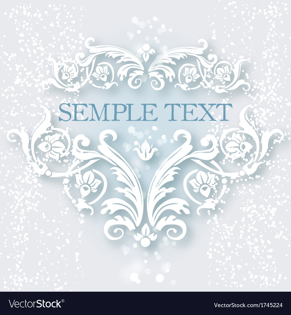 White vintage baroque border vector | Price: 1 Credit (USD $1)