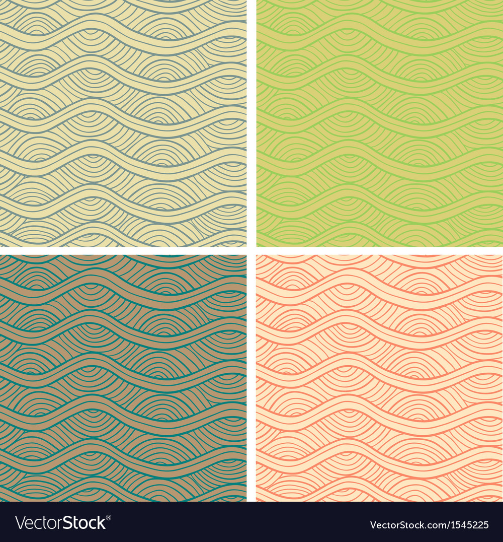 Abstract seamless patterns set vector | Price: 1 Credit (USD $1)