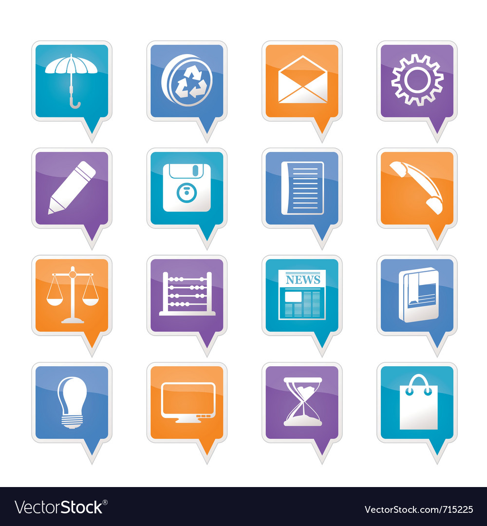Business and office internet icons vector | Price: 1 Credit (USD $1)