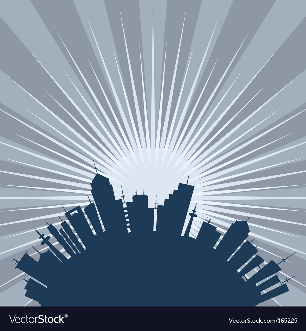 Curved city silhouette vector | Price: 1 Credit (USD $1)