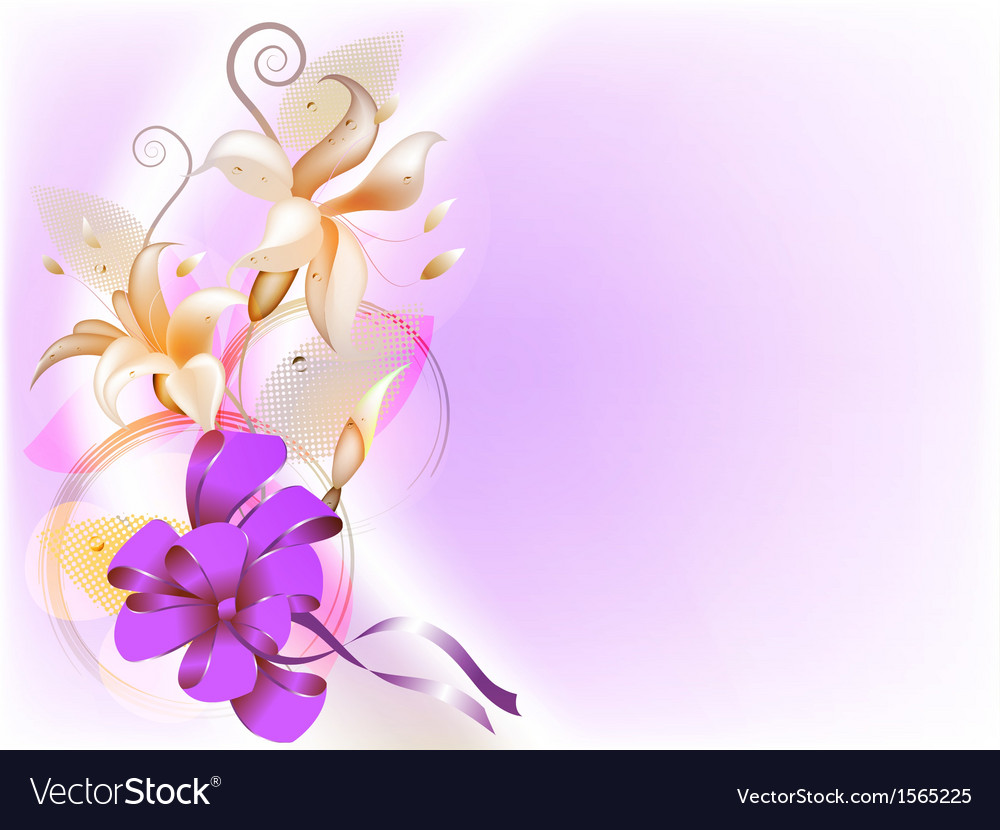 Delicate floral background vector | Price: 1 Credit (USD $1)