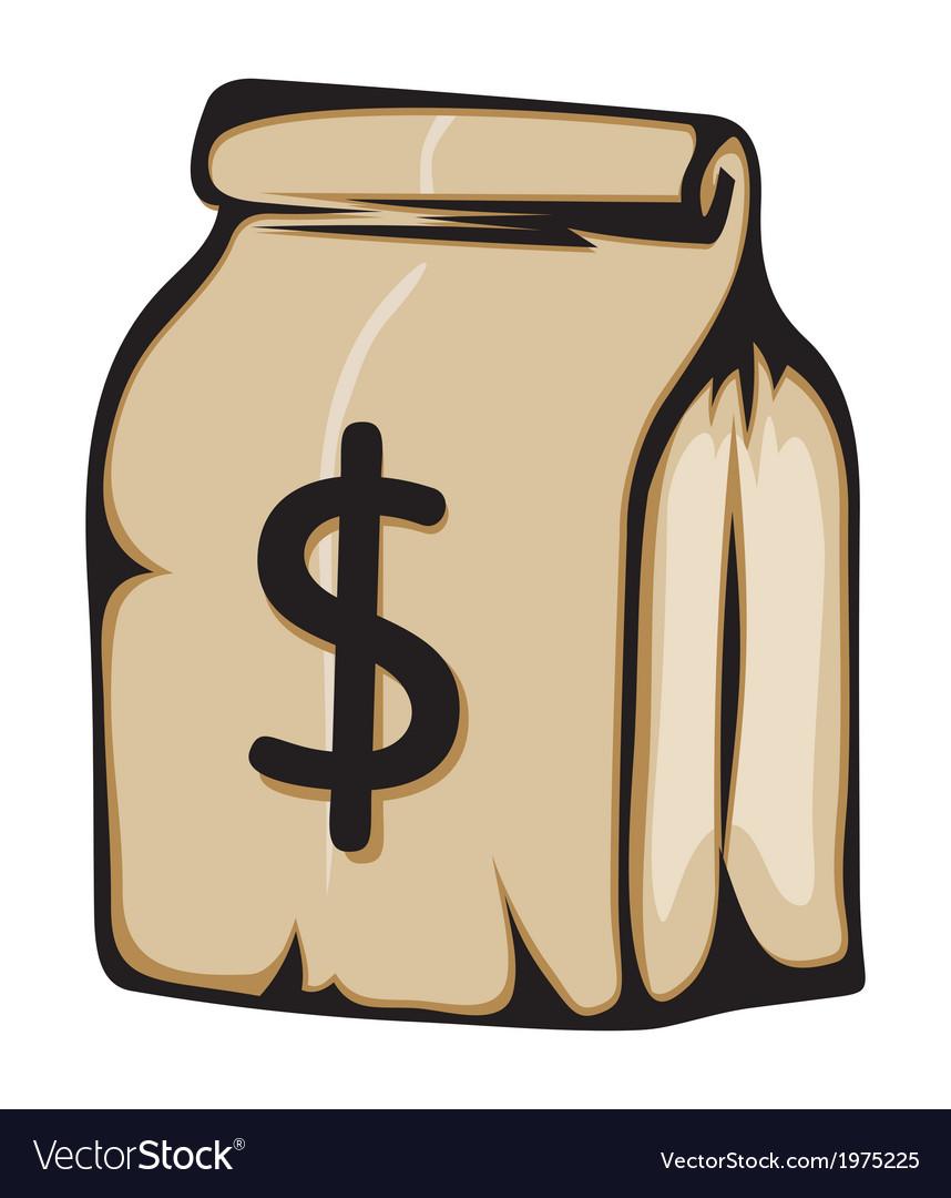 Dollar paiprna vreca vector | Price: 1 Credit (USD $1)
