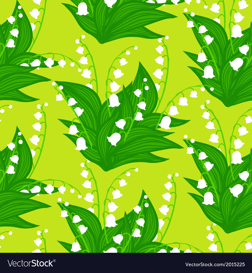 Floral pattern with lily-of-the-valley flowers vector | Price: 3 Credit (USD $3)