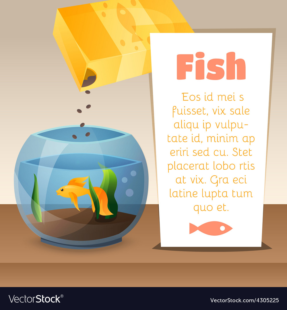 Goldfish in a bowl vector | Price: 1 Credit (USD $1)