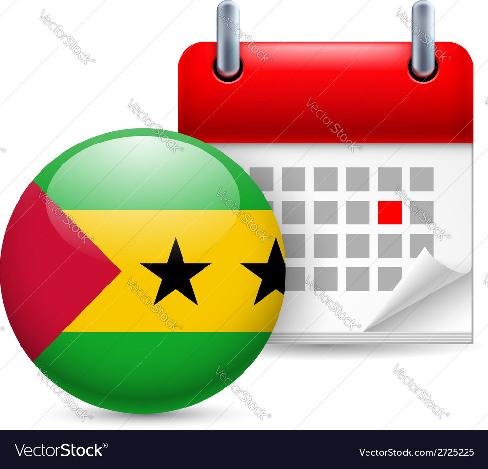 Icon of national day in sao tome and principe vector | Price: 1 Credit (USD $1)