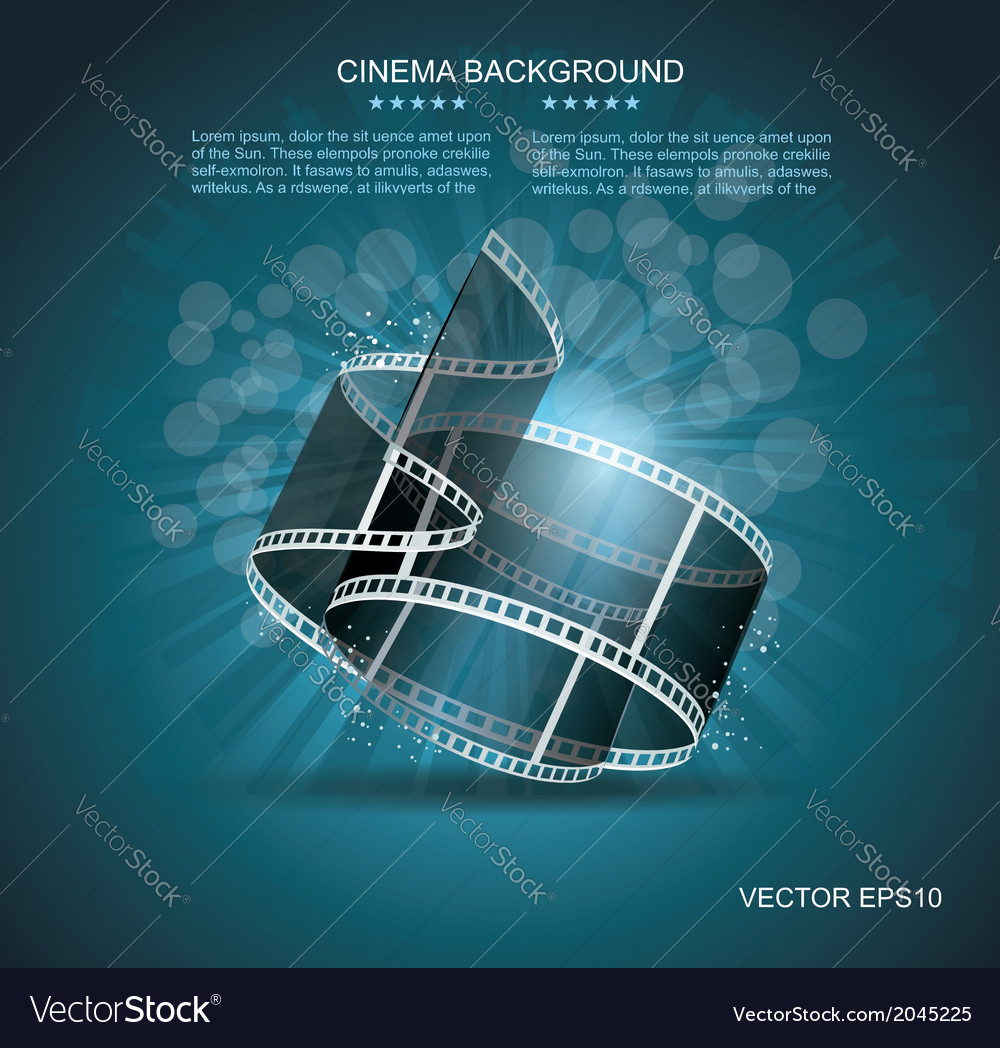 Old cinema banner with stripe roll vector | Price: 1 Credit (USD $1)