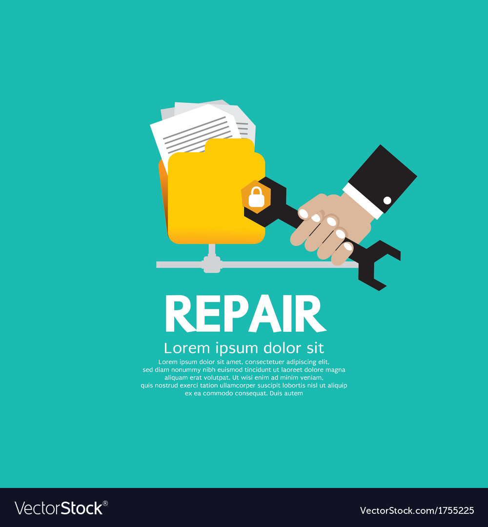 Repair folder vector | Price: 1 Credit (USD $1)