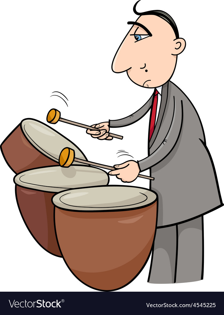 Timpani musician cartoon vector | Price: 1 Credit (USD $1)