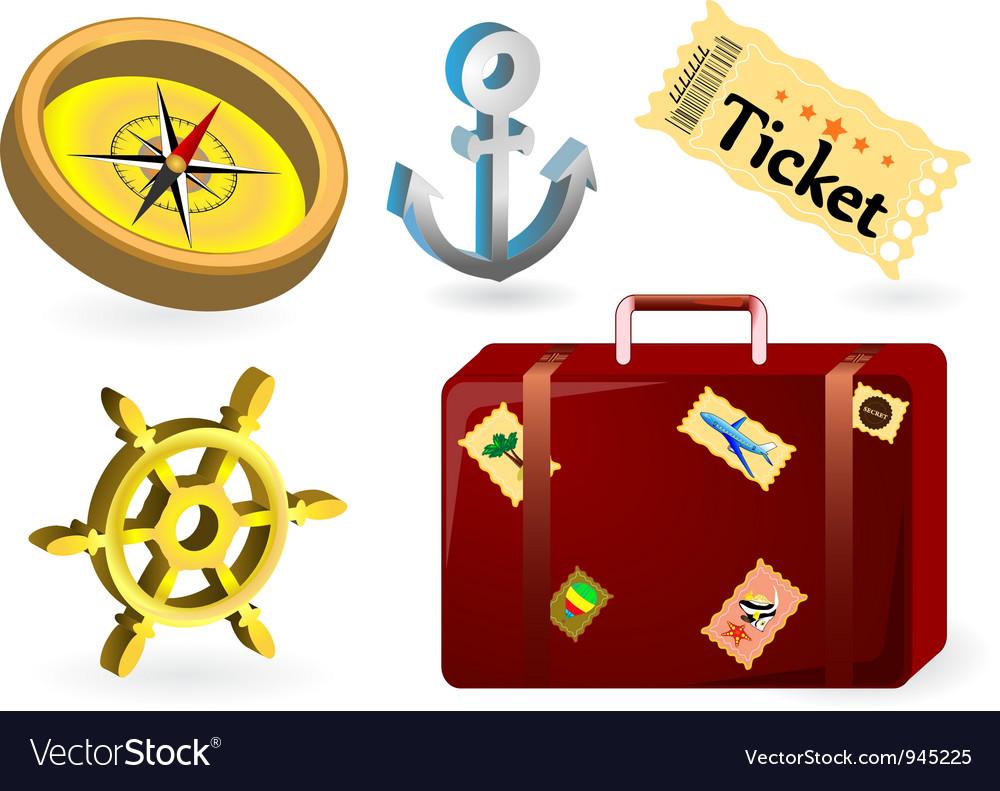 Travel items vector | Price: 1 Credit (USD $1)