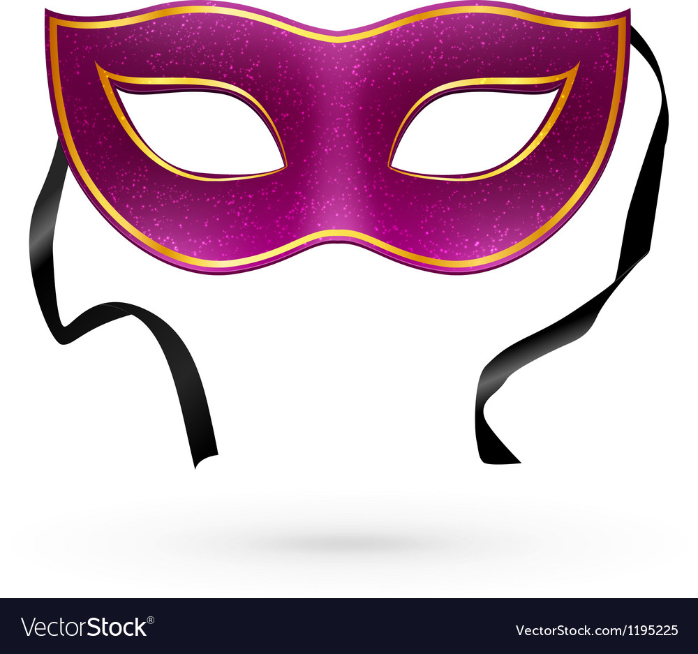Violet carnival mask with ribbons vector | Price: 1 Credit (USD $1)