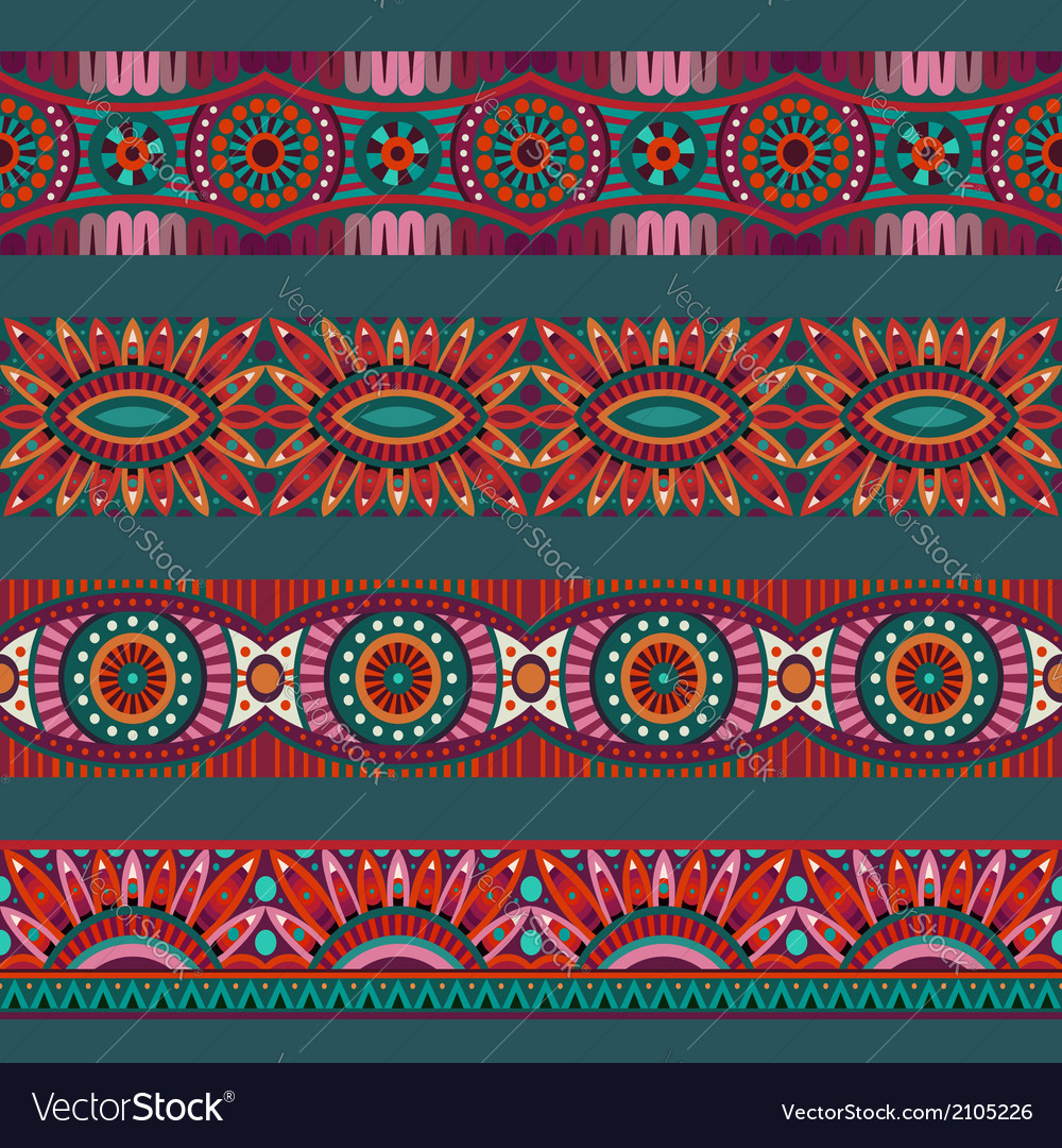 Abstract ornamental ethnic stripes elements vector | Price: 1 Credit (USD $1)