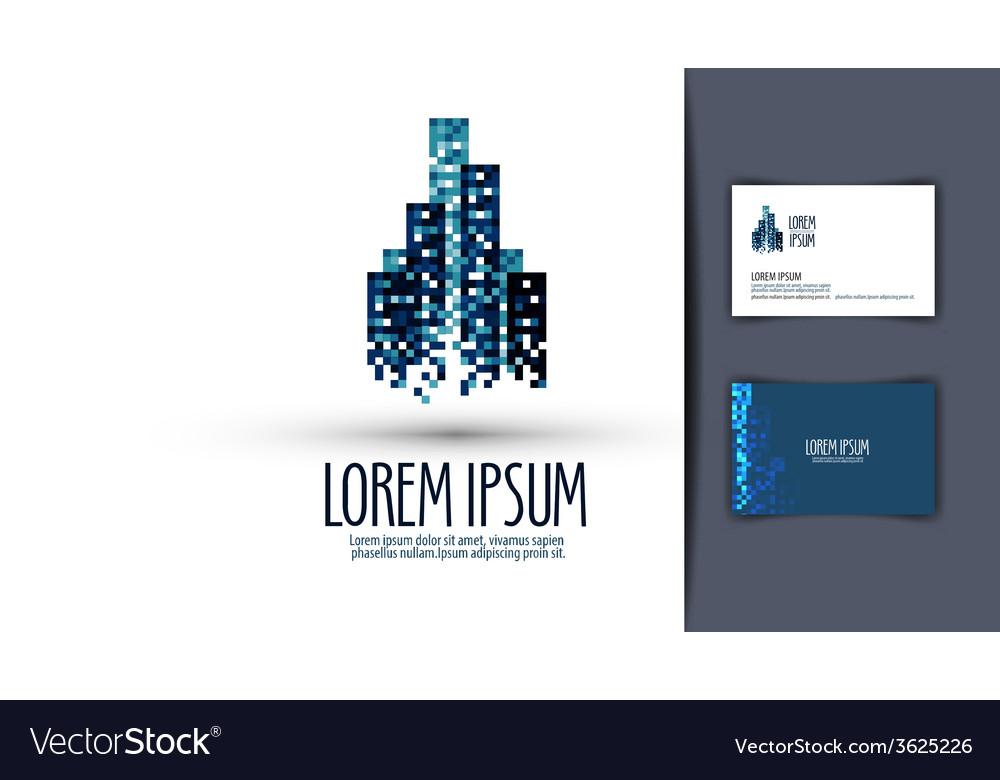 Building logo design template business or finances vector | Price: 1 Credit (USD $1)