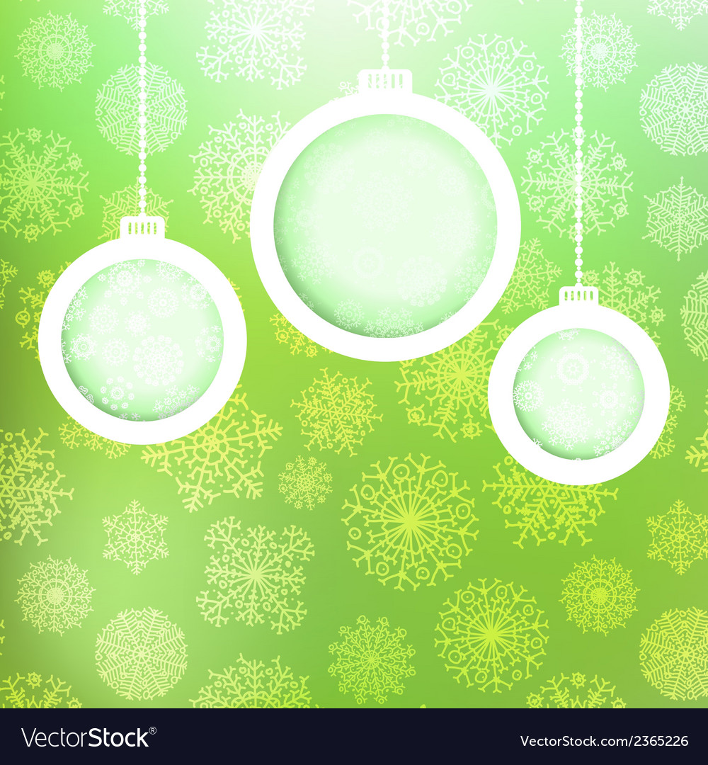 Christmas balls with snowflakes  eps8 vector | Price: 1 Credit (USD $1)