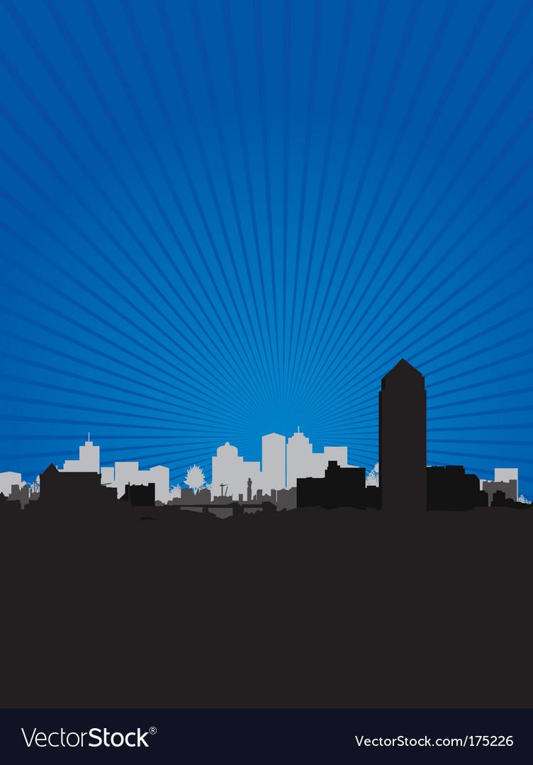 Cityscape sky vector | Price: 1 Credit (USD $1)