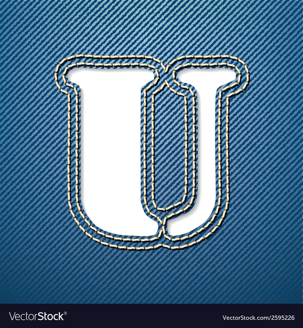 Denim jeans letter u vector | Price: 1 Credit (USD $1)