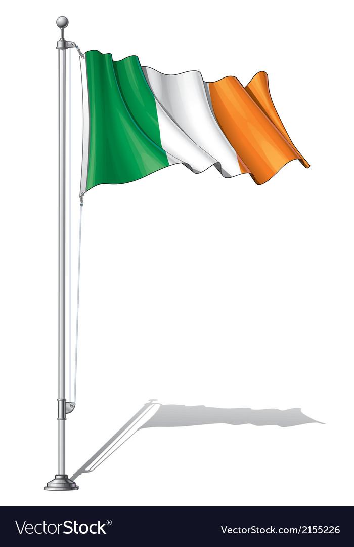 Flag pole ireland vector   Price: 1 Credit (USD $1)