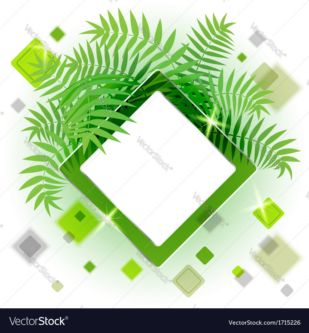 Frame with leaves for your message vector | Price: 1 Credit (USD $1)