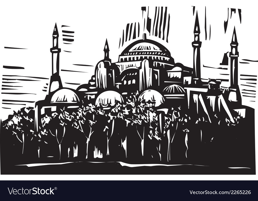Hagia sophia vector | Price: 1 Credit (USD $1)