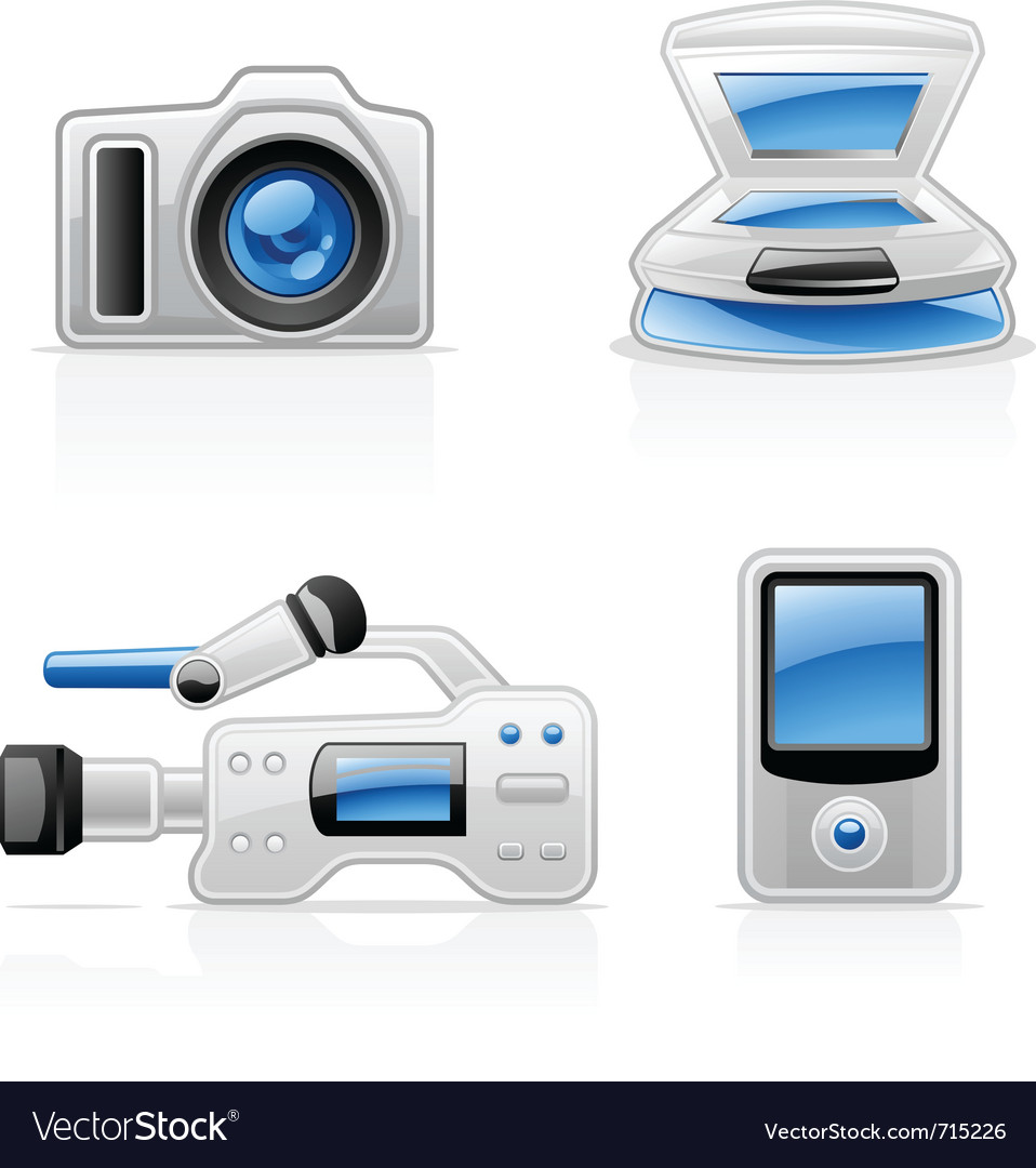 Media equipment icons vector | Price: 3 Credit (USD $3)