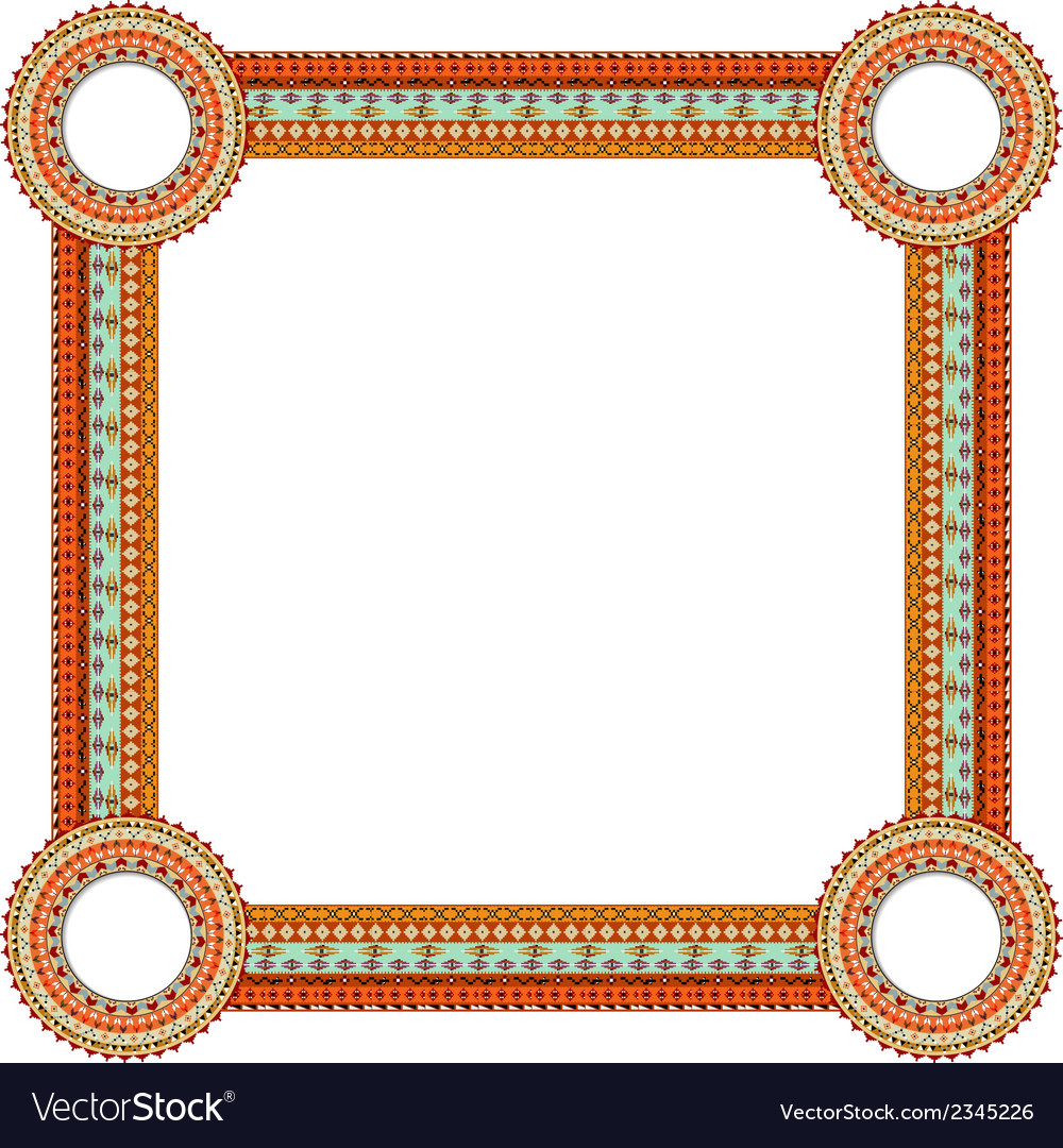 Original abstract frame in mexico tribal style vector | Price: 1 Credit (USD $1)