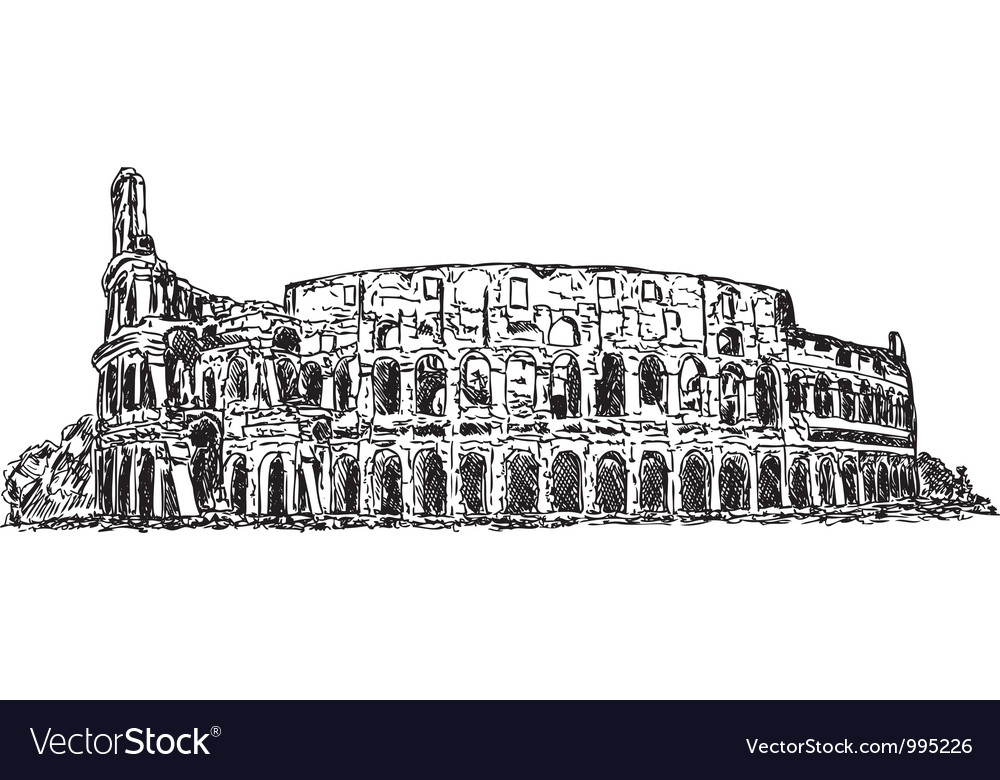 Roman colosseum vector | Price: 1 Credit (USD $1)
